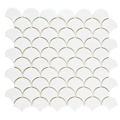Esamo 11.25 x 12 Glass Mosaic Tile in White