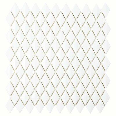 Esamo 11.625 x 12 Glass Mosaic Tile in White