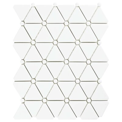 Esamo 10.13 x 12.88 Glass Mosaic Tile in White