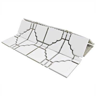 Kansai Porcelain Mosaic Tile in Matte White