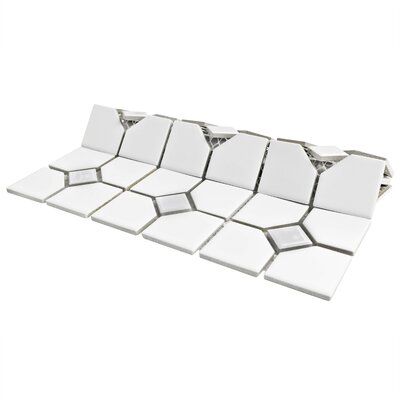 Cambridge 11.5 x 11.5 Porcelain Floor and Wall Tile in Matte White