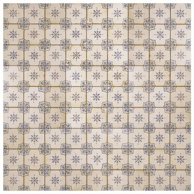 Rioja 13 x 13 Ceramic Field Tile in Blue/Cream