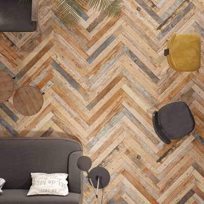 Zara 2.88 x 26.5 Porcelain Floor and Wall Tile in Brown