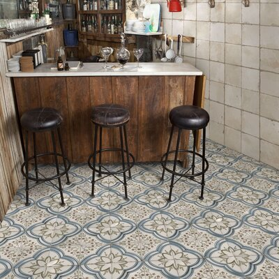 Alcaza 17.63 x 17.63 Ceramic Field Tile in Blue/Green