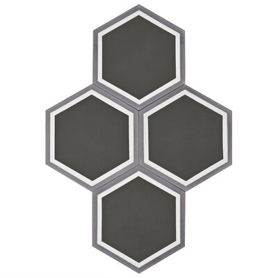 Ciment 7.88 x 9 Cement Field Tile in Gray