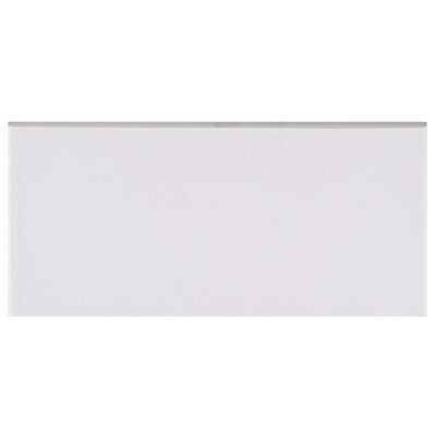 Revive 3.5 x 7.75 Ceramic Bullnose Tile Trim in White