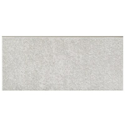 Forties 3.5 x 7.75 Ceramic Bullnose Tile Trim in Gray