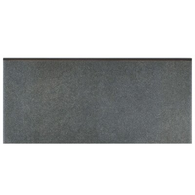 Forties 3.5 x 7.75 Ceramic Bullnose Trim Tile in Black