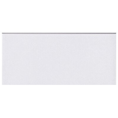 Revive 3.5 x 7.75 Ceramic Bullnose Trim Tile in White