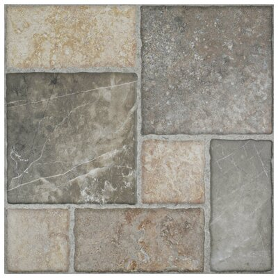 Catalan 17.75 x 17.75 Ceramic Field Tile in Gray/Beige