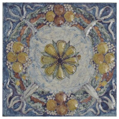 Obila 2.75 x 2.75 Ceramic Trim Wall Medallions Tile in Arenal Taco