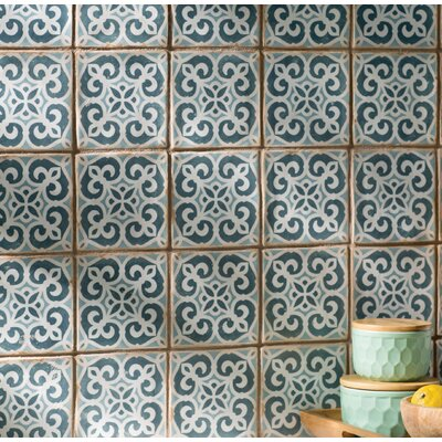 Arquivo 4.875 X 4.875 Ceramic Field Tile in Blue