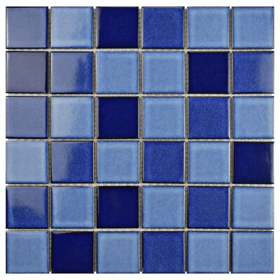 Pool 2 x 2 Porcelain Mosaic Tile in Marine