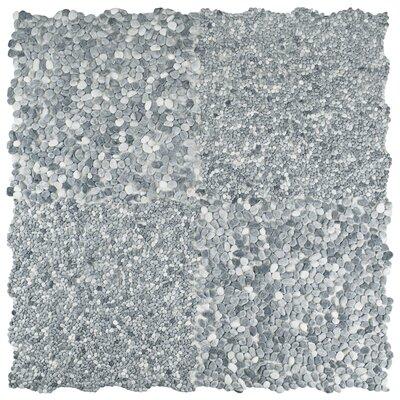 Kamyk 12.25 x 12.25 Pebble Stone Mosaic Tile in Light Gray