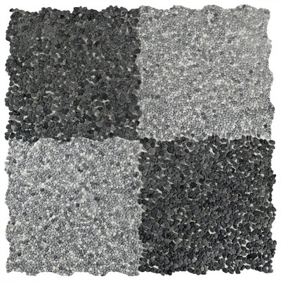 Kamyk 12.25 x 12.25 Pebble Stone Mosaic Tile in Gray