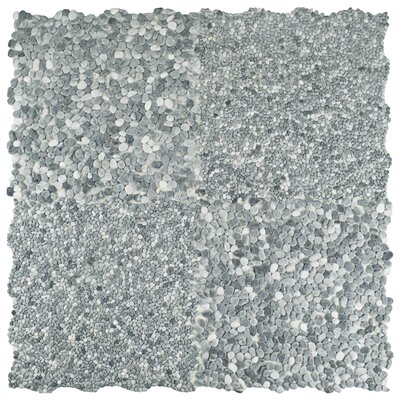 Kamyk Mini 12.25 x 12.25 Pebble Stone Mosaic Tile in Light Gray