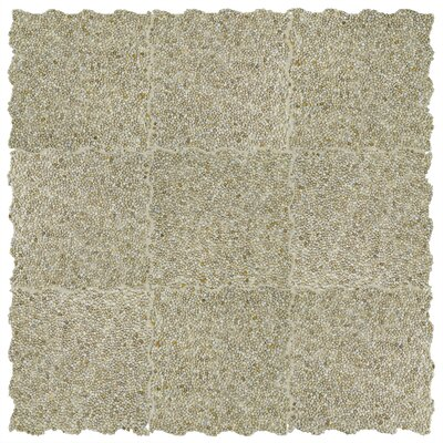 Kamyk Mini 12.25 x 12.25 Pebble Stone Mosaic Tile in Beige