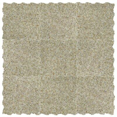 Kamyk Mini 12.25 x 12.25 Pebble Stone Mosaic Tile in Beige