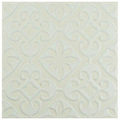 Tres 7.75 x 7.75 Ceramic Field Tile in Valverde White