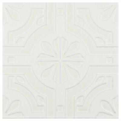 Tres 7.75 x 7.75 Ceramic Field Tile in Real White