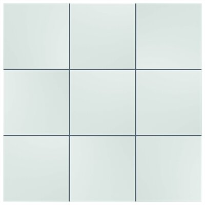 Tres 7.75 x 7.75 Ceramic Field Tile in White