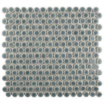Penny 0.8 x 0.8 Porcelain Mosaic Tile in Slate