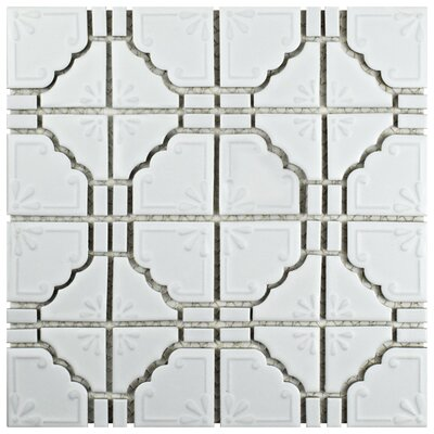 Moonlight 12 x 12 Porcelain Mosaic Tile in Matte White
