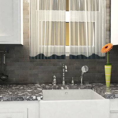 Divine 2 x 4 Subway Stainless Steel Over Porcelain Mosaic Tile in Silver