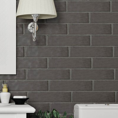 Tivoli 3 x 12 Ceramic Field Tile in Graphite Gray