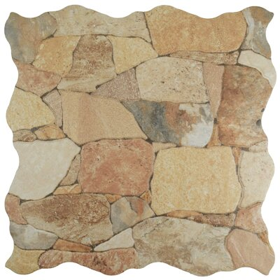 Atticas Random Sized Ceramic Splitface Tile in Beige