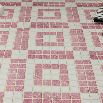Minerva 1.3 x 1.3 Porcelain Mosaic Tile in Flamingo