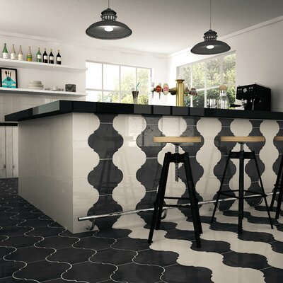Marr 10.38 x 11.38 Porcelain Field Tile in Eggshell White