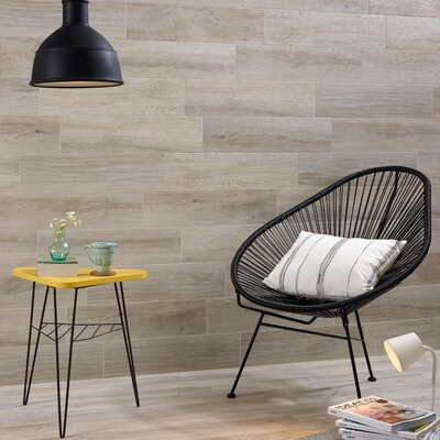 Moscow 12.25 x 23.63 Porcelain Wood Look Tile in Gray