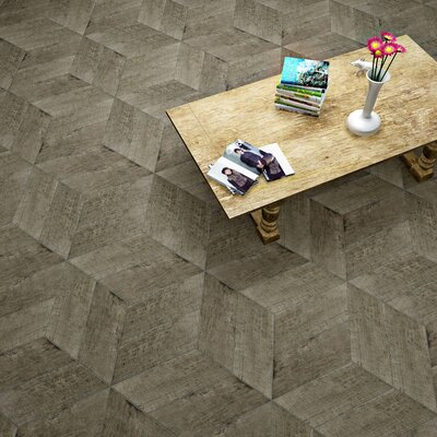 Rama 7.13 x 16.68 Porcelain Wood Look Tile in Terra