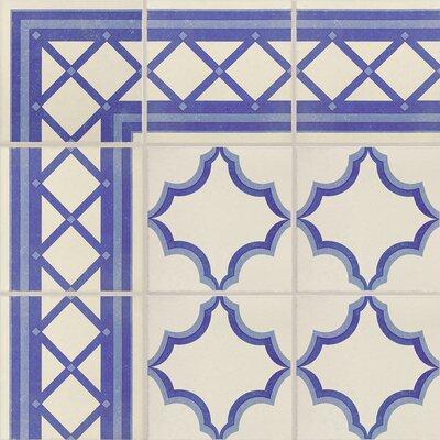 Cementa 7 x 7 Porcelain Field Tile in Blue/White