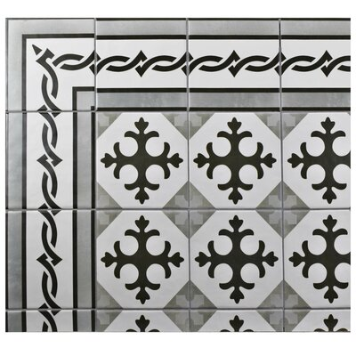 Haute 5.88 x 5.88 Ceramic Field Tile in Charcoal Gray