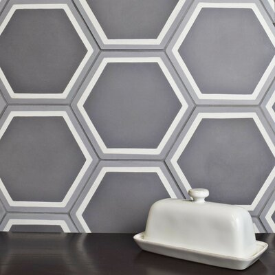 Ciment 7.875 x 9 Cement Field Tile in Gray