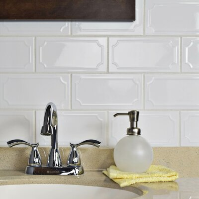 Thira 4 x 8 Ceramic Subway Tile in Blanco
