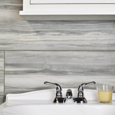 Queen 13 x 26.25 Porcelain Floor and Wall Tile in Gray