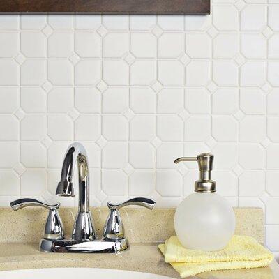 Retro Broadway 11.75 x 11.75 Porcelain Mosaic Tile in Matte White