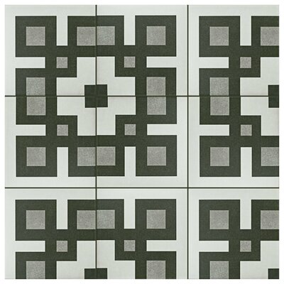 Forties 7.75 x 7.75 Ceramic Field Tile in Corner Gray