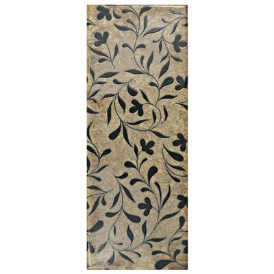 Byth 5.88 x 15.75 Ceramic Field Tile in Brown/Black