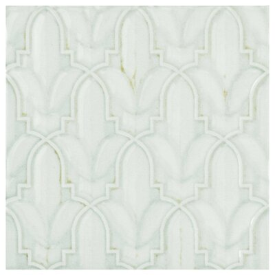 Countryside Lis D�cor 5.88 x 5.88 Ceramic Field Tile in White/Gray