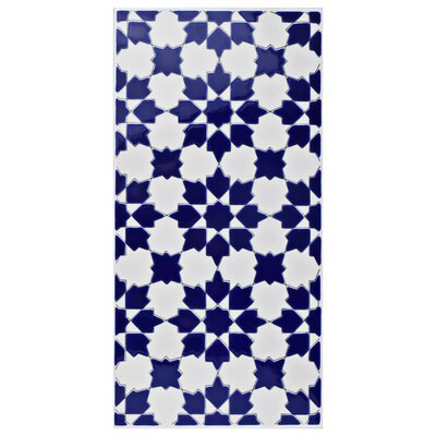 Esna 5.5 x 11 Ceramic Field Tile in Blue/White