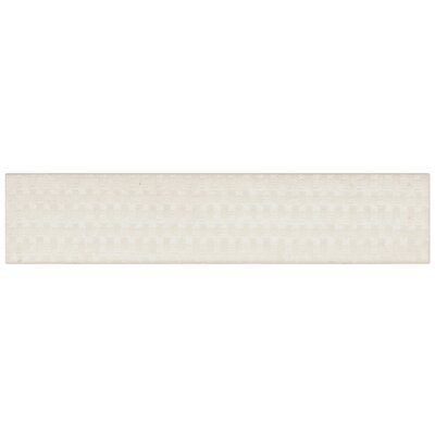 Aluna 2 x 9.5 Porcelain Splitface Tile in White