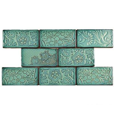 Antiqua 3 x 6 Ceramic Subway Tile in Feelings Lava Verde