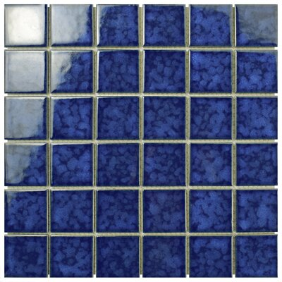 Pool 2 x 2 Porcelain Mosaic Tile in Atlantic