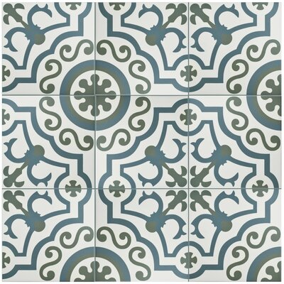 Hydraulic 9.75 x 9.75 Porcelain Field Tile in Ducados