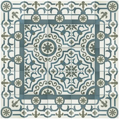 Hydraulic 9.75 x 9.75 Porcelain Field Tile in Gray/Blue