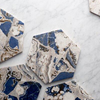 Agato 8.63 x 9.88 Porcelain Mosaic Tile in Blue/White